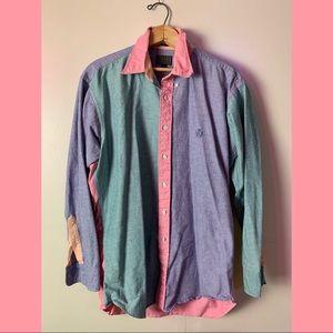 CHAPS Ralph Lauren Vintage Pastel Denim Shirt